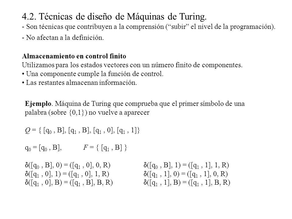4.2. Técnicas de diseño de Máquinas de Turing.