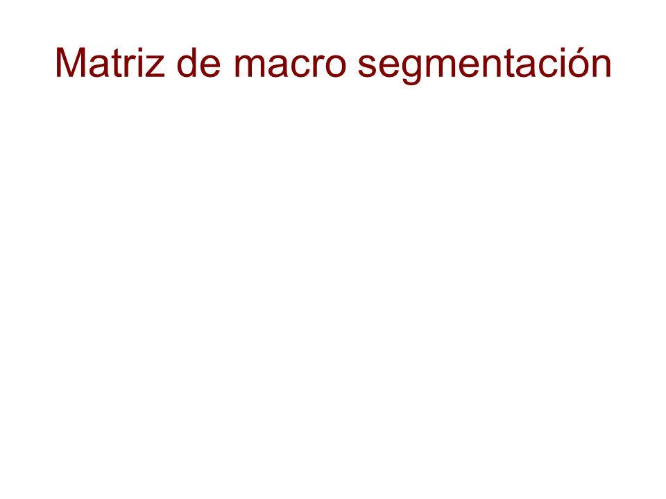 Matriz de macro segmentación