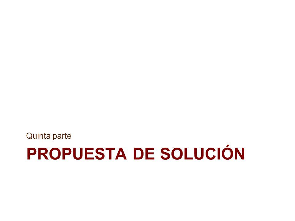 Quinta parte Propuesta de solución