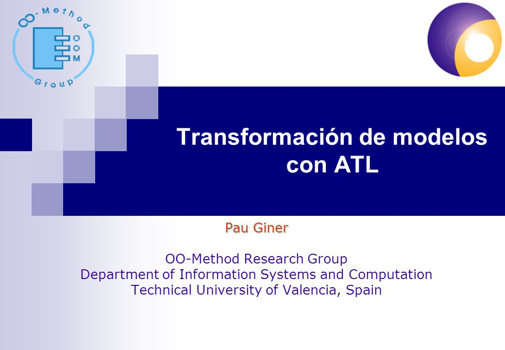 Transformación de modelos con ATL