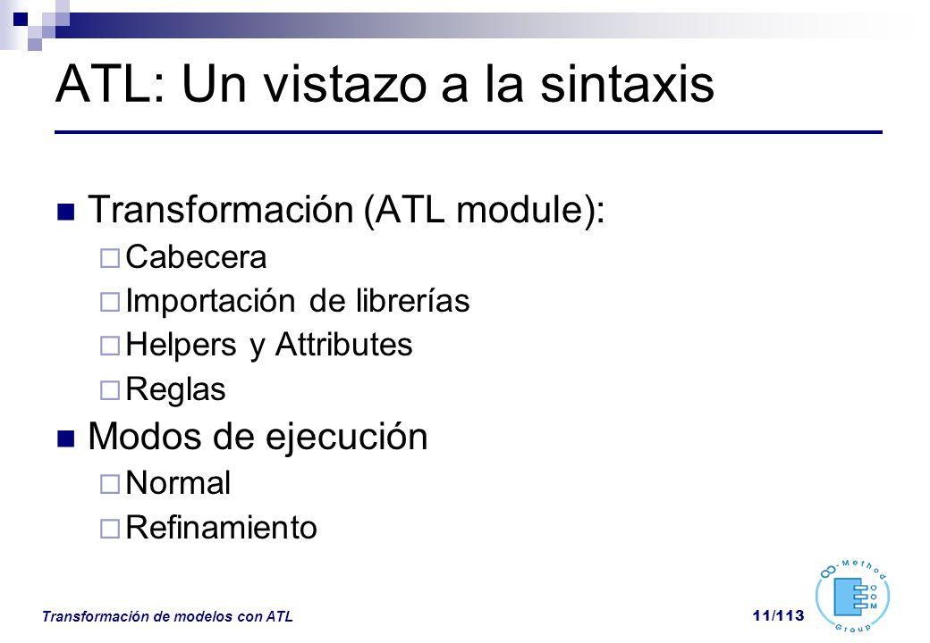 ATL: Un vistazo a la sintaxis