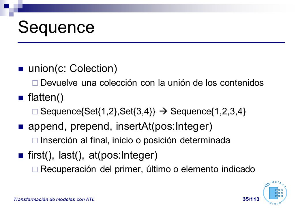 Sequence union(c: Colection) flatten()