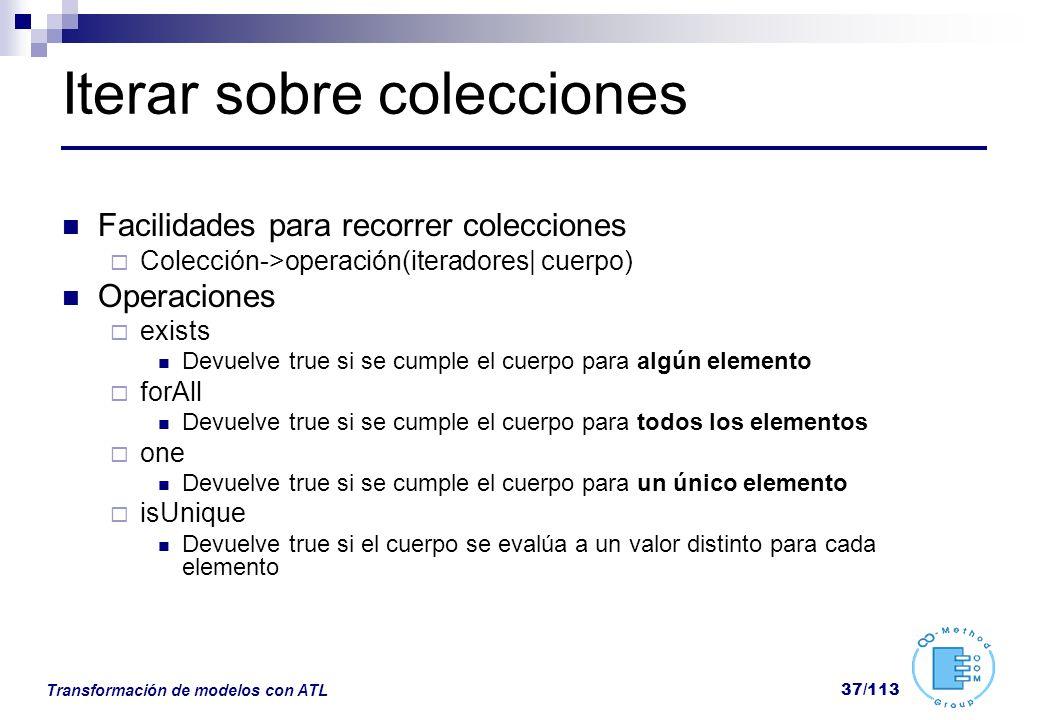 Iterar sobre colecciones