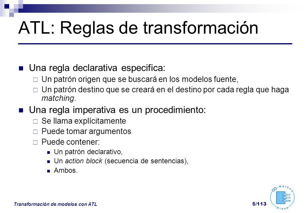 ATL: Reglas de transformación