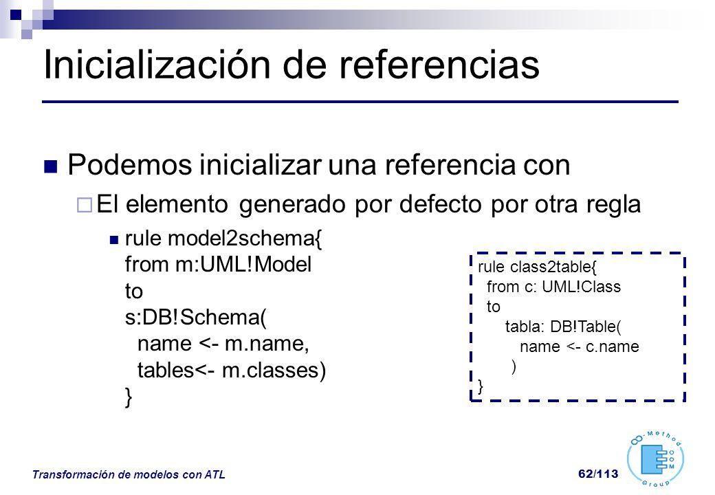 Inicialización de referencias