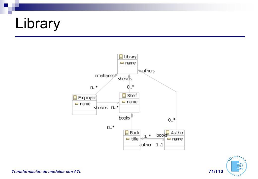 Library Transformación de modelos con ATL