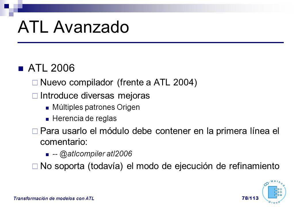 ATL Avanzado ATL 2006 Nuevo compilador (frente a ATL 2004)
