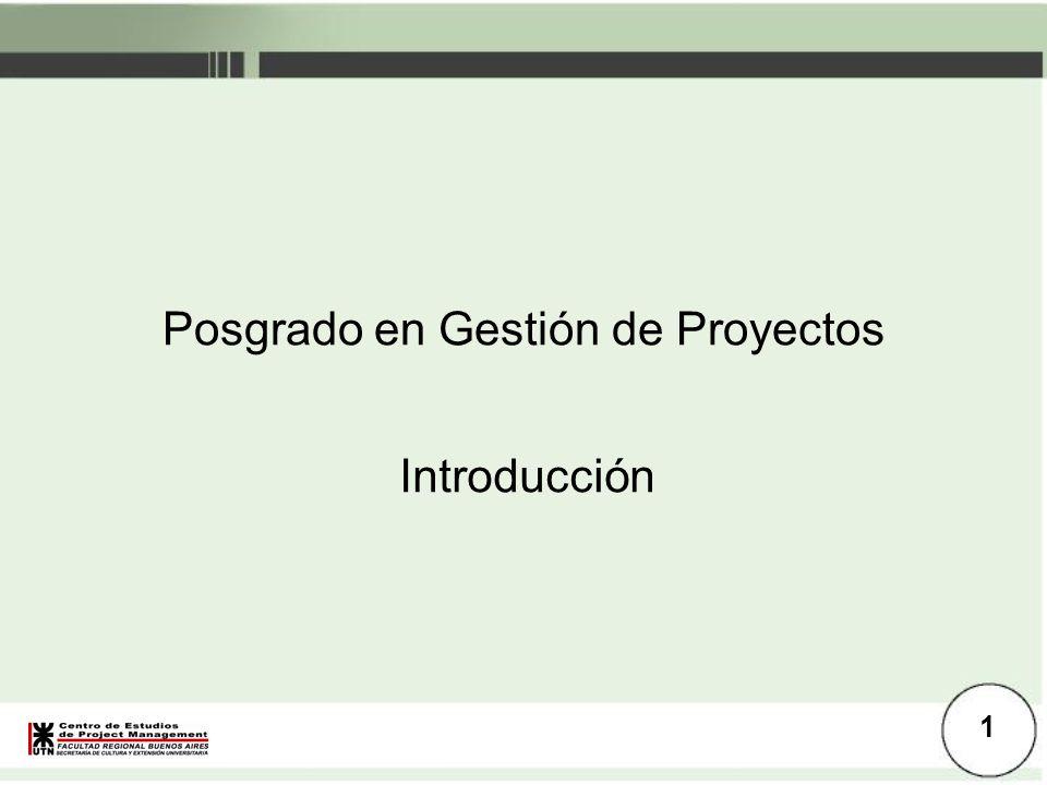 Posgrado en Gestión de Proyectos