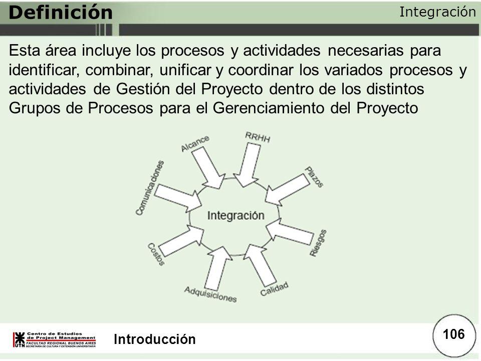 Definición Integración.