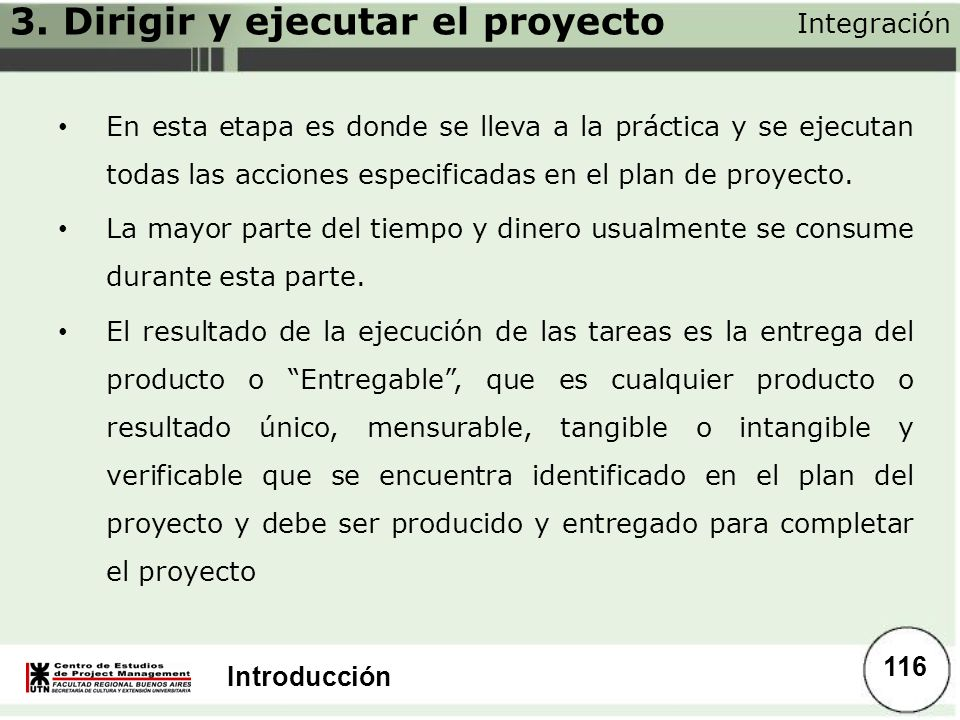 3. Dirigir y ejecutar el proyecto