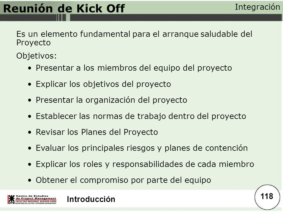 Reunión de Kick Off Integración
