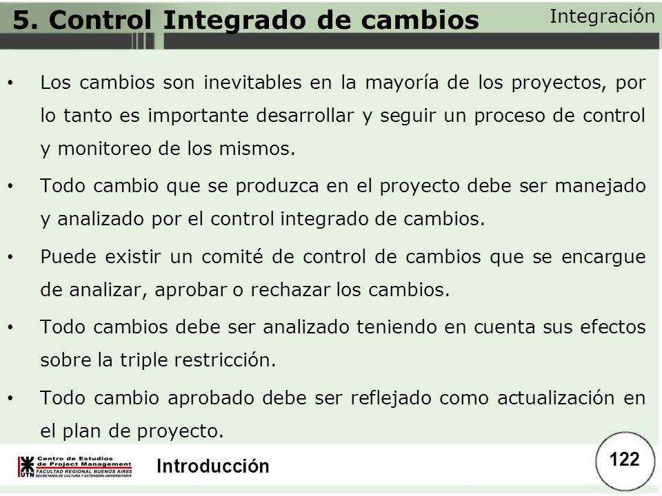 5. Control Integrado de cambios