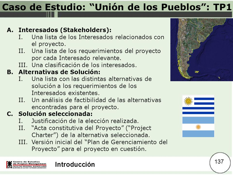Caso de Estudio: Unión de los Pueblos : TP1