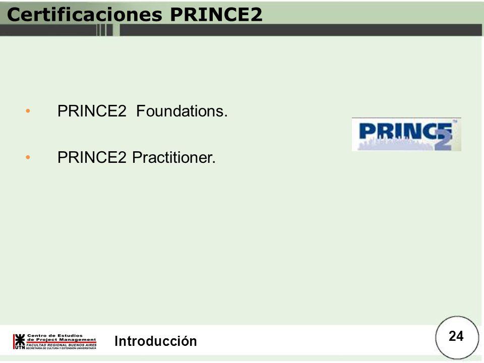 Certificaciones PRINCE2