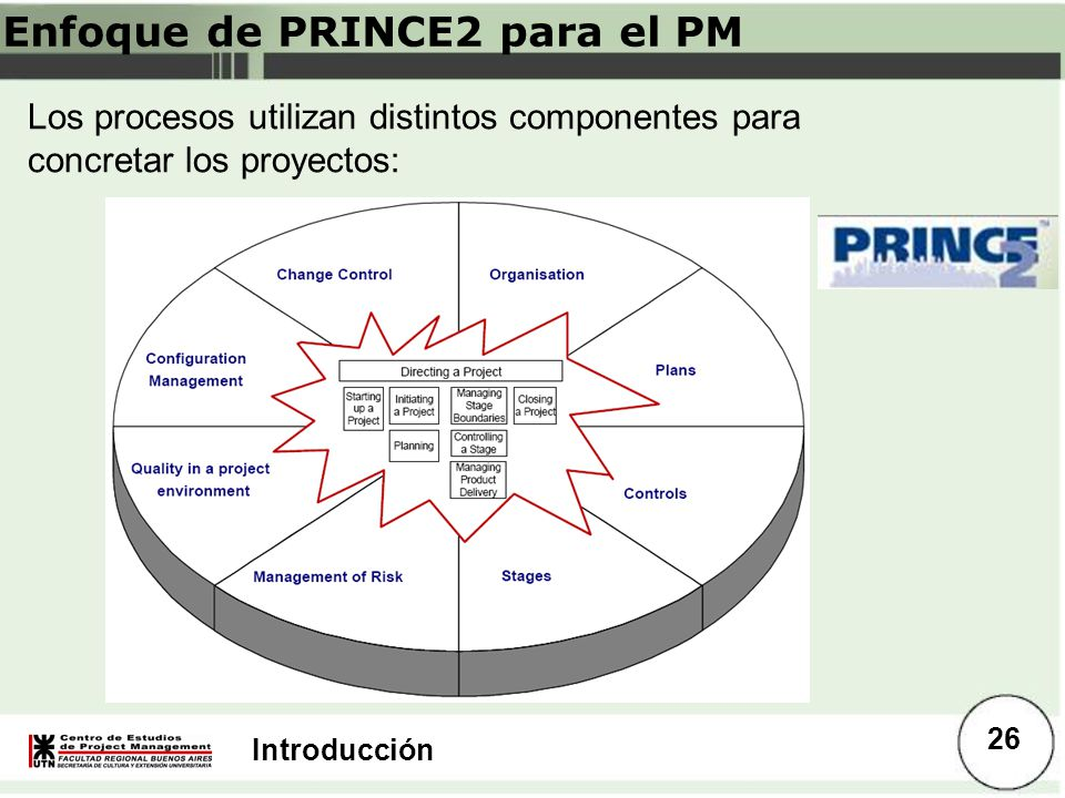 Enfoque de PRINCE2 para el PM