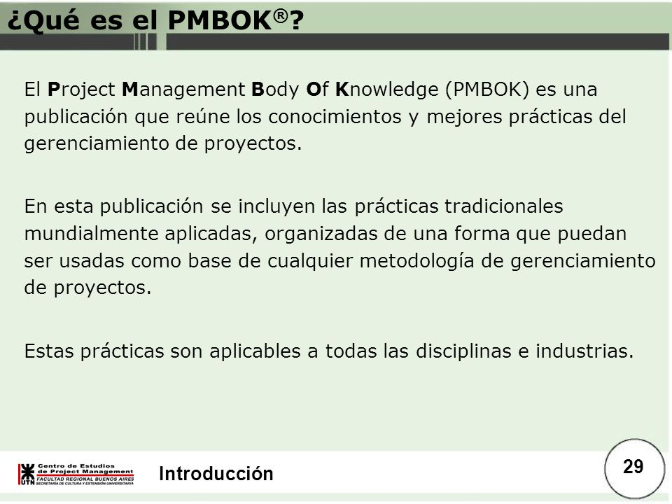 ¿Qué es el PMBOK®