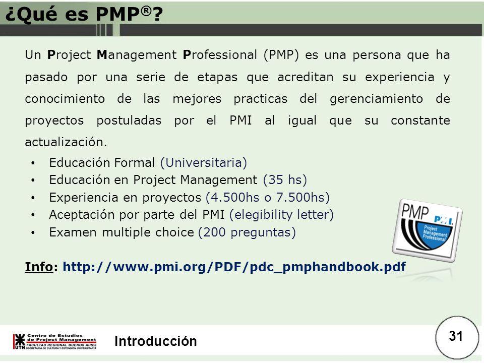 ¿Qué es PMP®