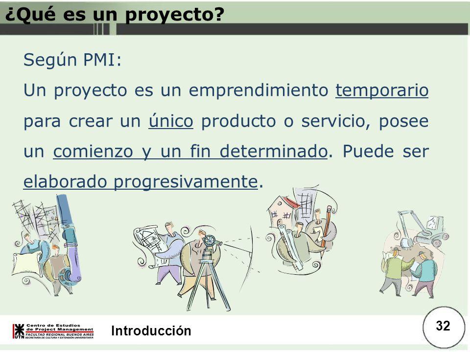 ¿Qué es un proyecto Según PMI: