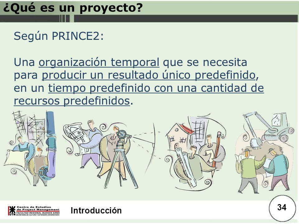 ¿Qué es un proyecto Según PRINCE2: