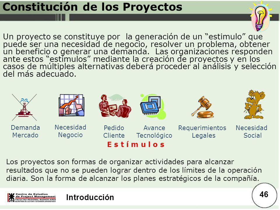 Constitución de los Proyectos