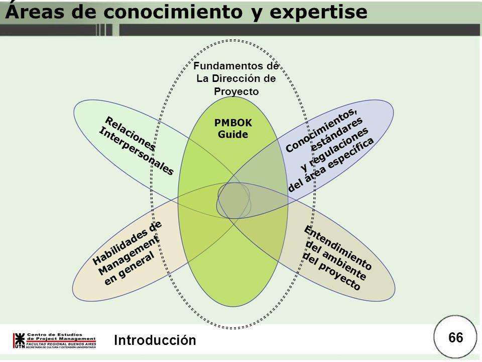 Áreas de conocimiento y expertise