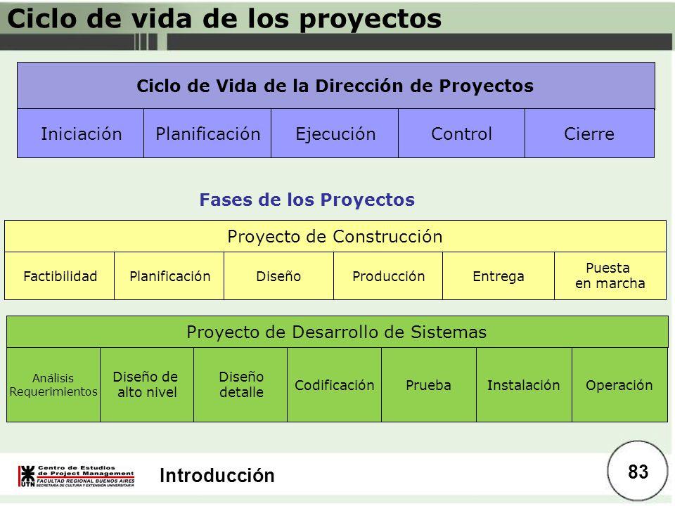 Ciclo de Vida de la Dirección de Proyectos