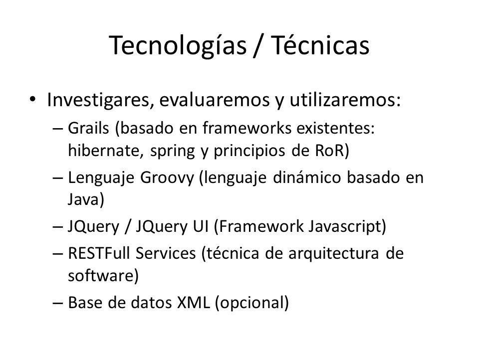 Tecnologías / Técnicas