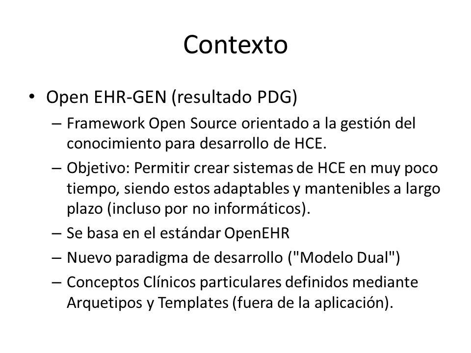 Contexto Open EHR-GEN (resultado PDG)