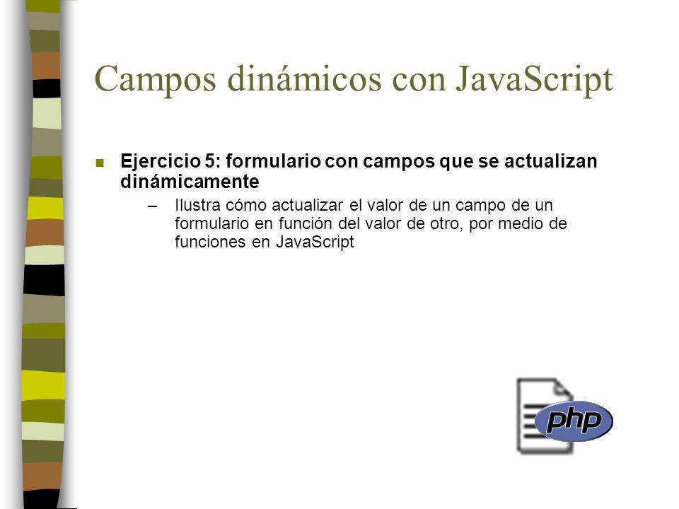 Campos dinámicos con JavaScript