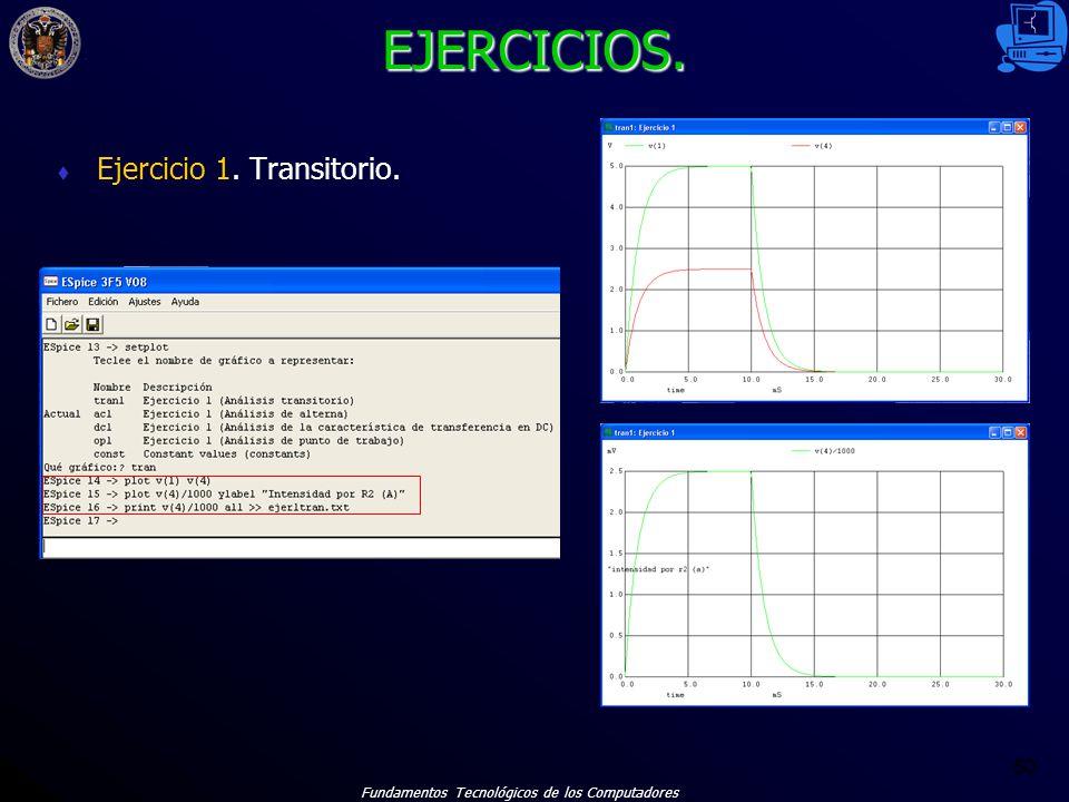 EJERCICIOS. Ejercicio 1. Transitorio.