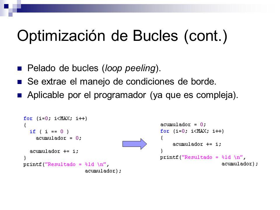 Optimización de Bucles (cont.)