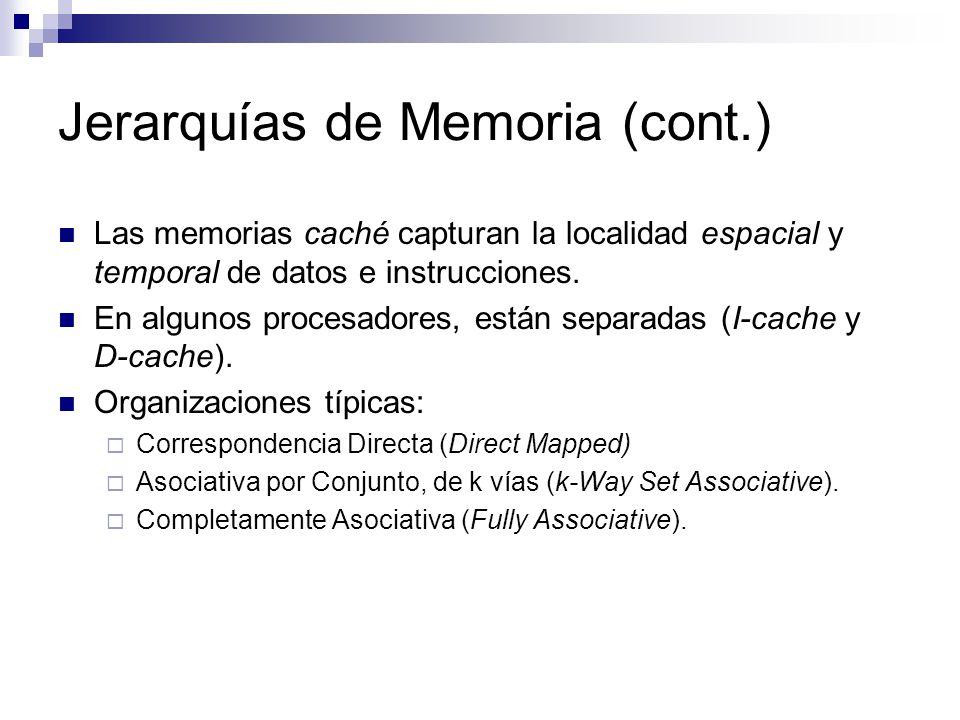 Jerarquías de Memoria (cont.)