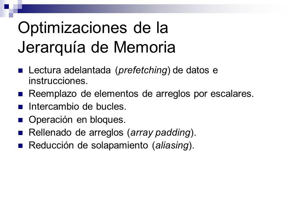 Optimizaciones de la Jerarquía de Memoria