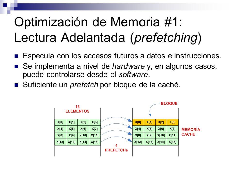 Optimización de Memoria #1: Lectura Adelantada (prefetching)