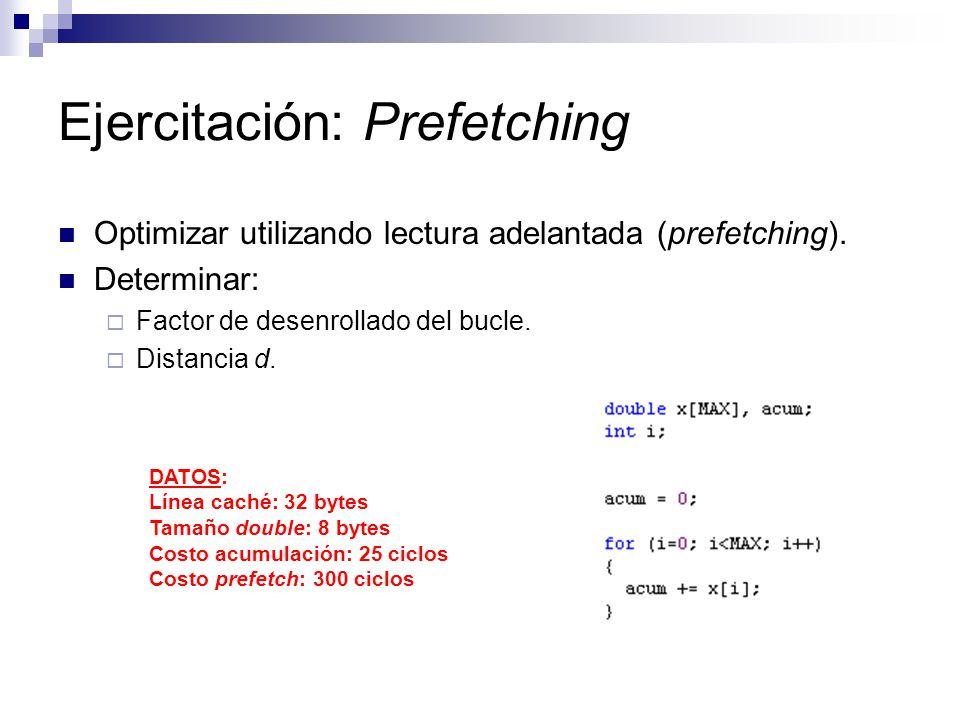 Ejercitación: Prefetching