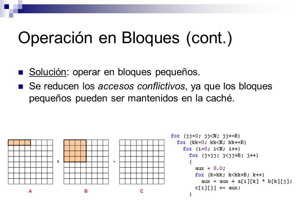 Operación en Bloques (cont.)
