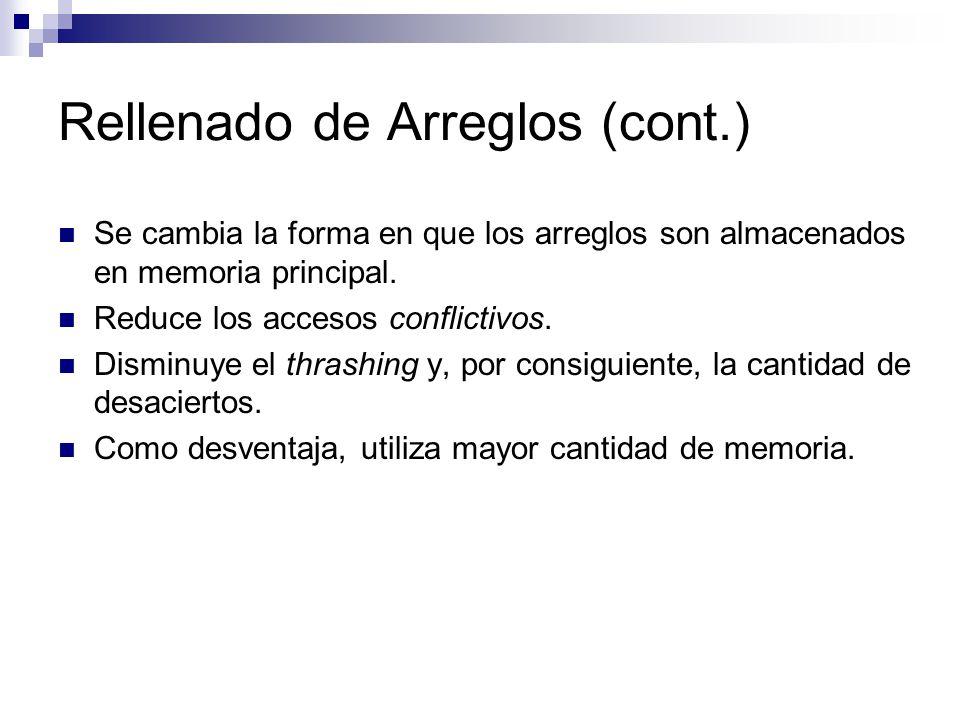 Rellenado de Arreglos (cont.)