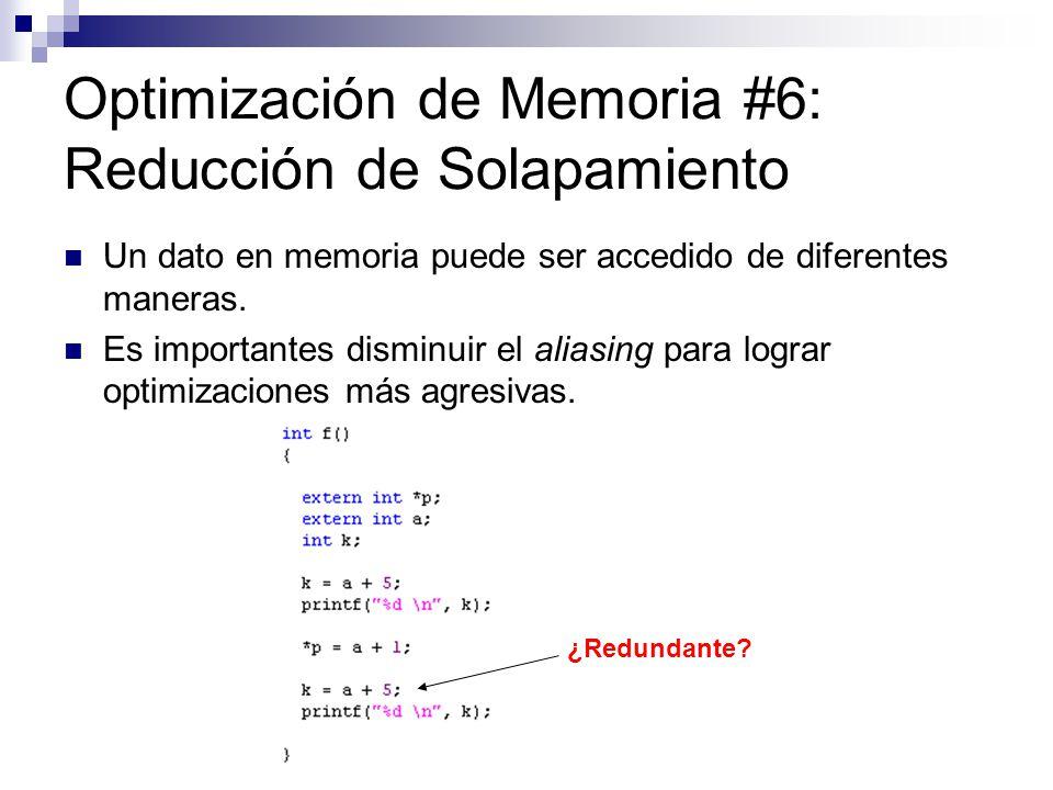 Optimización de Memoria #6: Reducción de Solapamiento