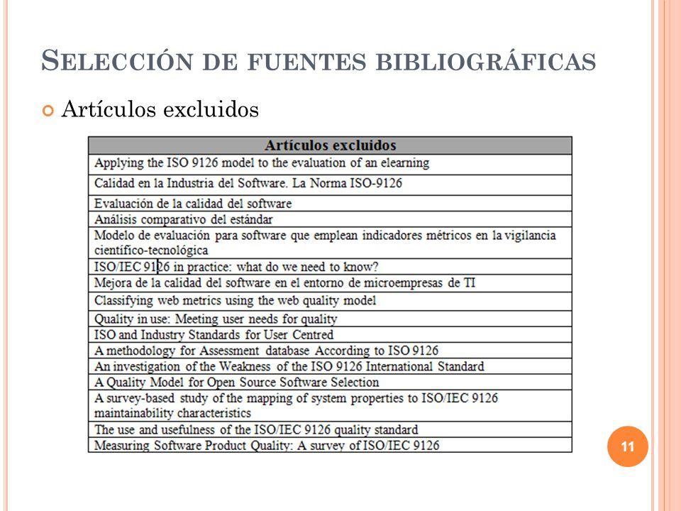 Selección de fuentes bibliográficas