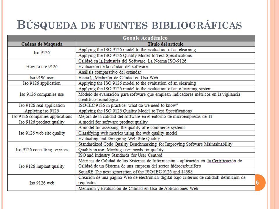 Búsqueda de fuentes bibliográficas