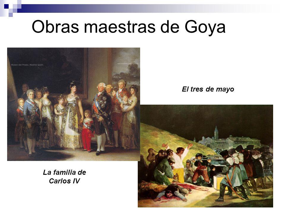 Obras maestras de Goya El tres de mayo La familia de Carlos IV