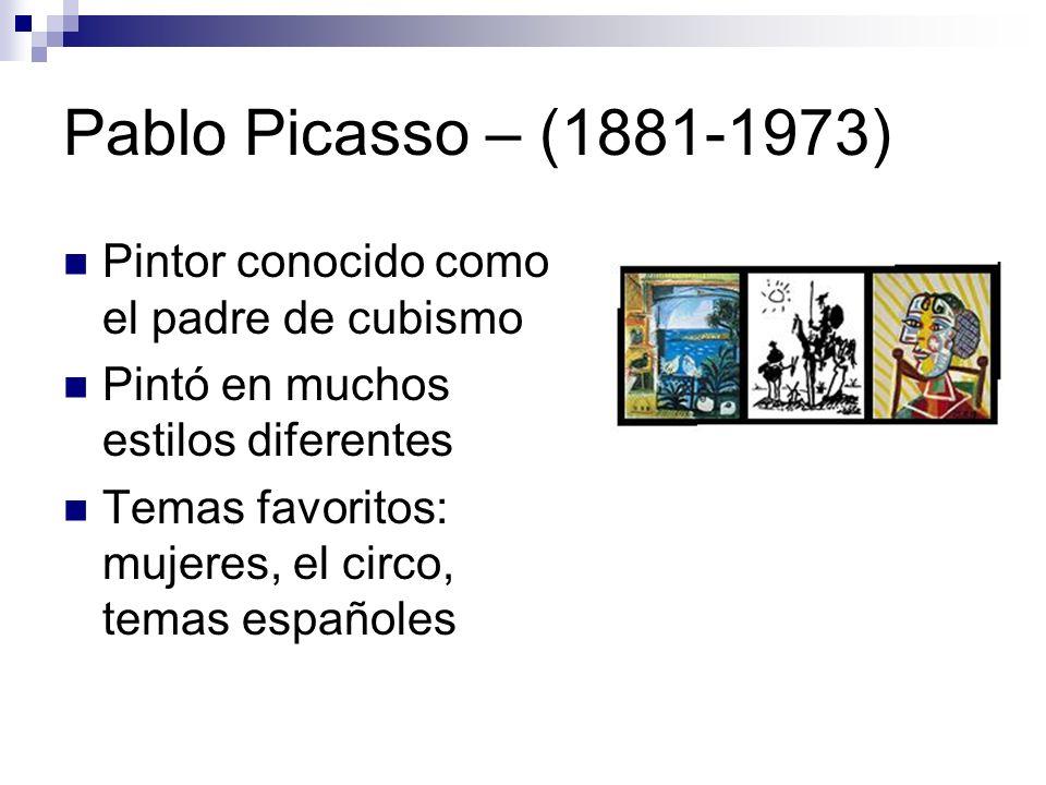 Pablo Picasso – (1881-1973) Pintor conocido como el padre de cubismo