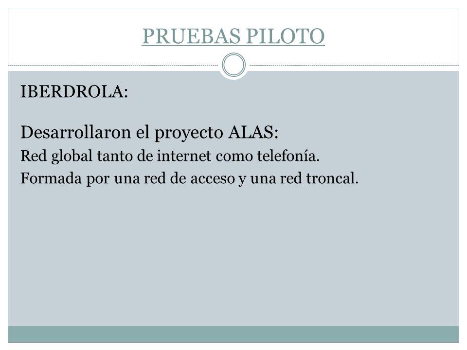 PRUEBAS PILOTO Desarrollaron el proyecto ALAS: IBERDROLA: