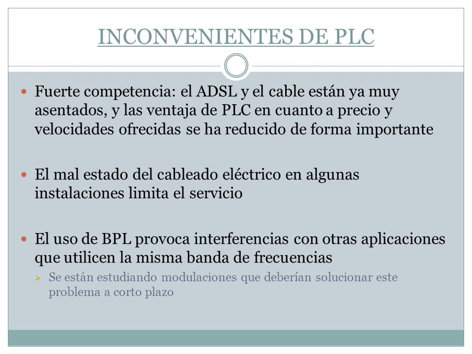 INCONVENIENTES DE PLC