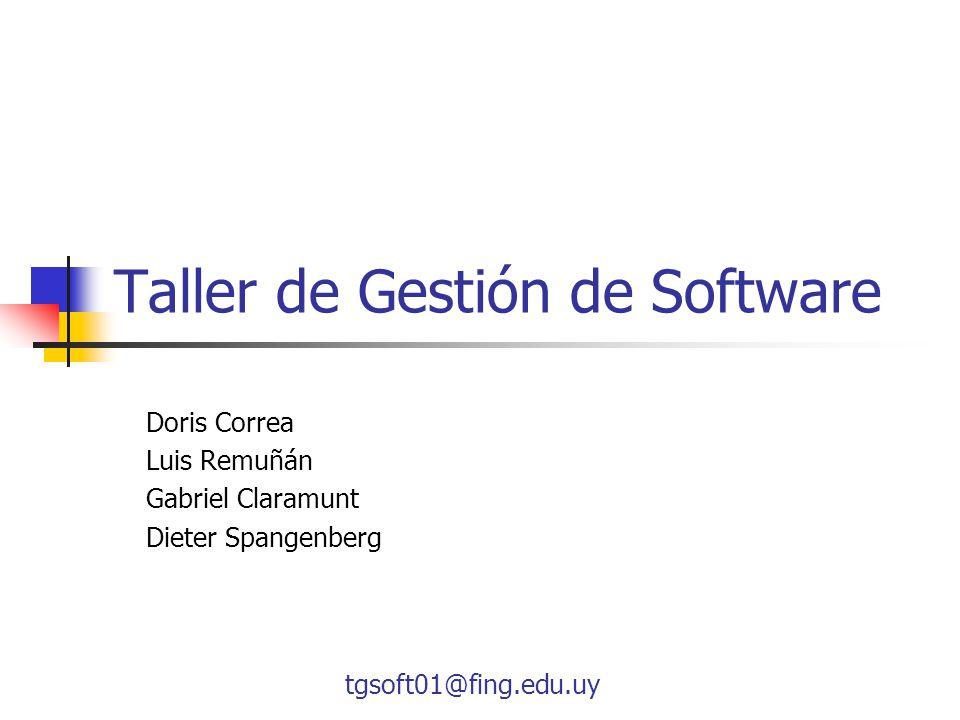 Taller de Gestión de Software