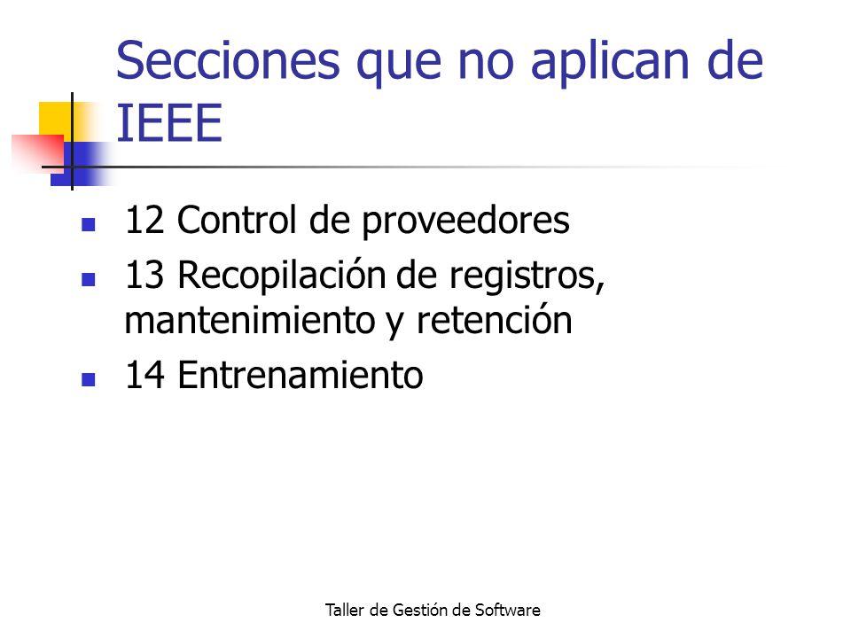 Secciones que no aplican de IEEE