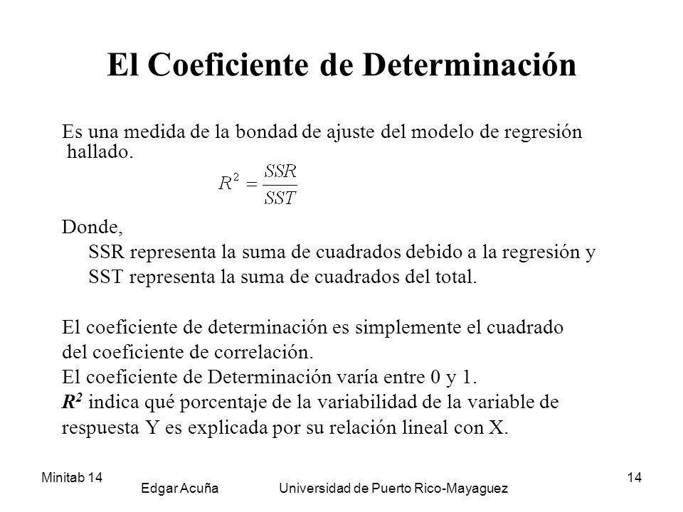 El Coeficiente de Determinación