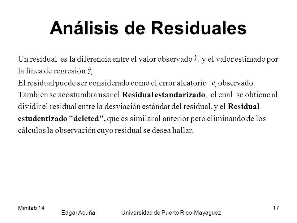 Análisis de Residuales