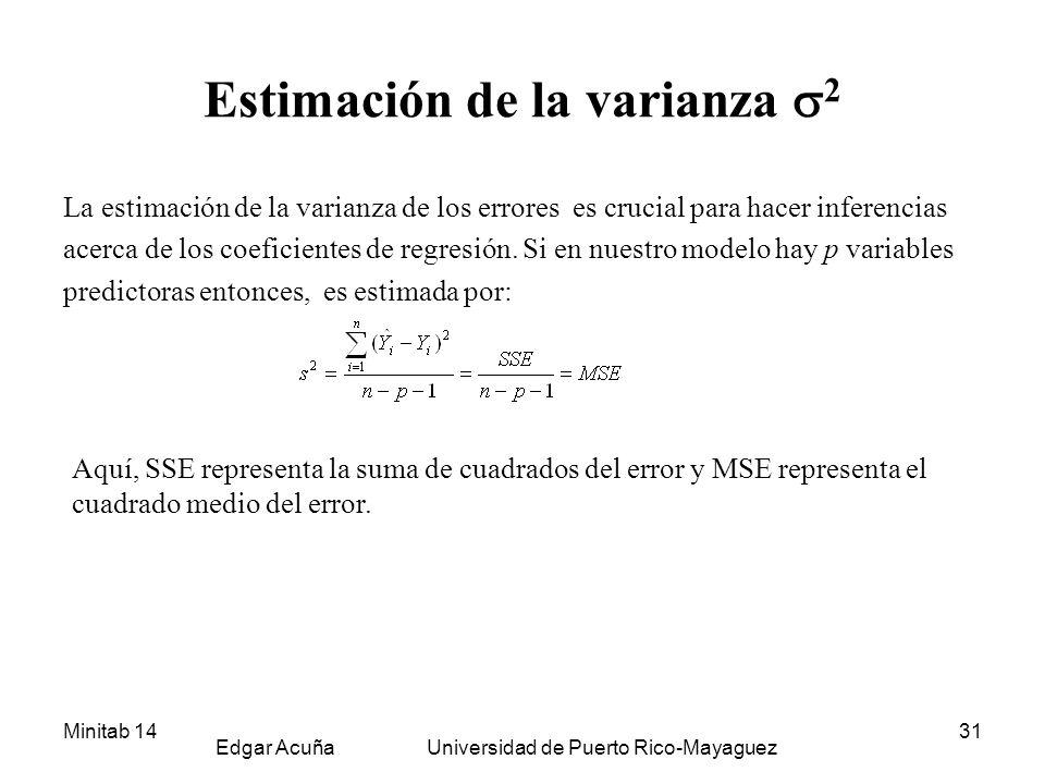Estimación de la varianza 2