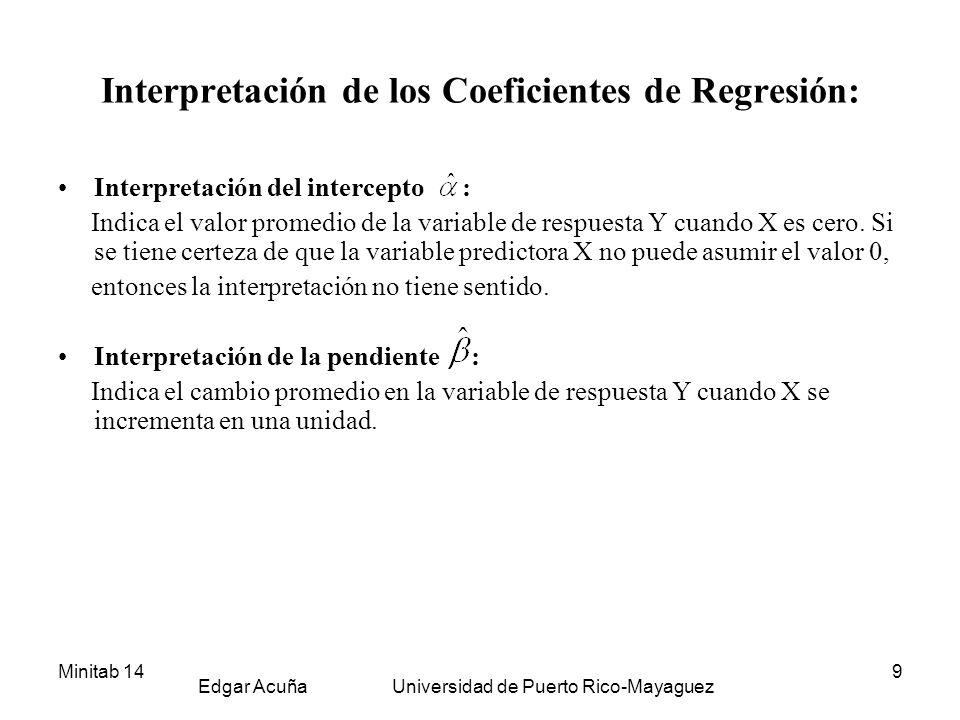 Interpretación de los Coeficientes de Regresión: